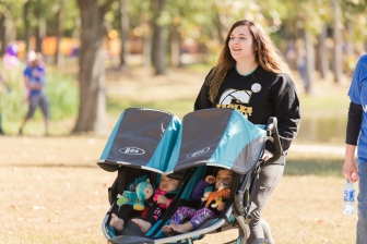 Kelsey and her babies, Izabella and Brielle, at a recent fundraising walk for PRC of Rolla (Mo.)