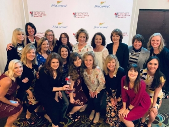 The Pregnancy Care Center team poses, having won the Southwest Missouri Nonprofit Excellence Award