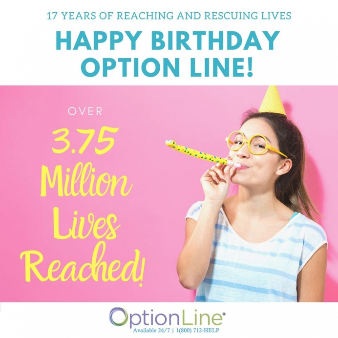 Option Line marks 17 years of life-saving service today