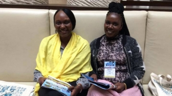 Elizabeth Massaba (L) with Barbra Mwansa at the 2017 Heartbeat International Annual Conference.
