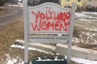 Earlier this year, Culpeper Pregnancy Center was vandalized with smears that echo those of abortion activist groups.
