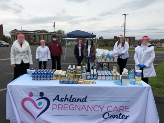 Ashland Pregnancy Care Center blessed moms with essential supplies just before Mother's Day