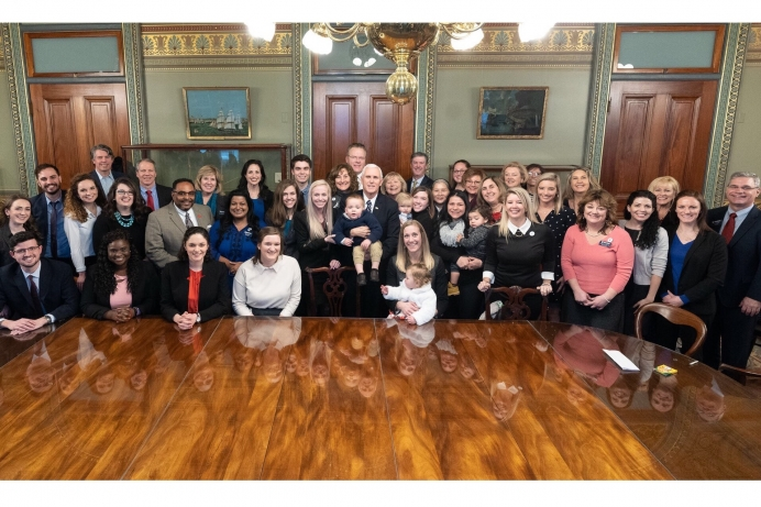 Heartbeat International and Students for Life meet with VP Mike Pence ahead of the March for Life.