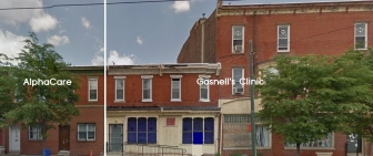 AlphaCare's new location, just one wall away from Kermit Gosnell's shuttered abortion clinic.