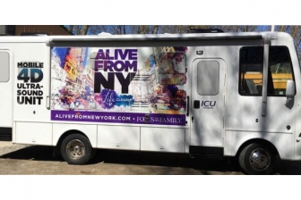 "Focus on the Family and ICU Mobile's ""Alive from New York"" ultrasound mobile unit"
