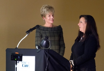 Michelle (right), a former client at True Care in Casper, Wyoming, with executive director Terry Winship.