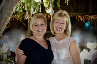 Susan with her compassionate friend, Sandy, (left) who revealed the heart of God to a post-abortive woman.