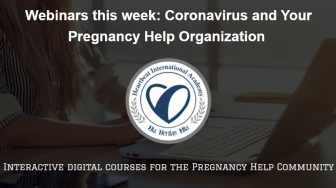 Heartbeat launching free webinar series on coronavirus and pregnancy help organizations
