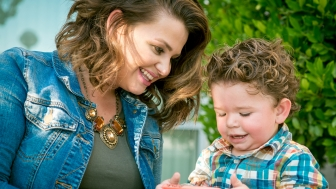 Rebekah Buell and her son, Zechariah, who she rescued through the abortion pill reversal in 2013.